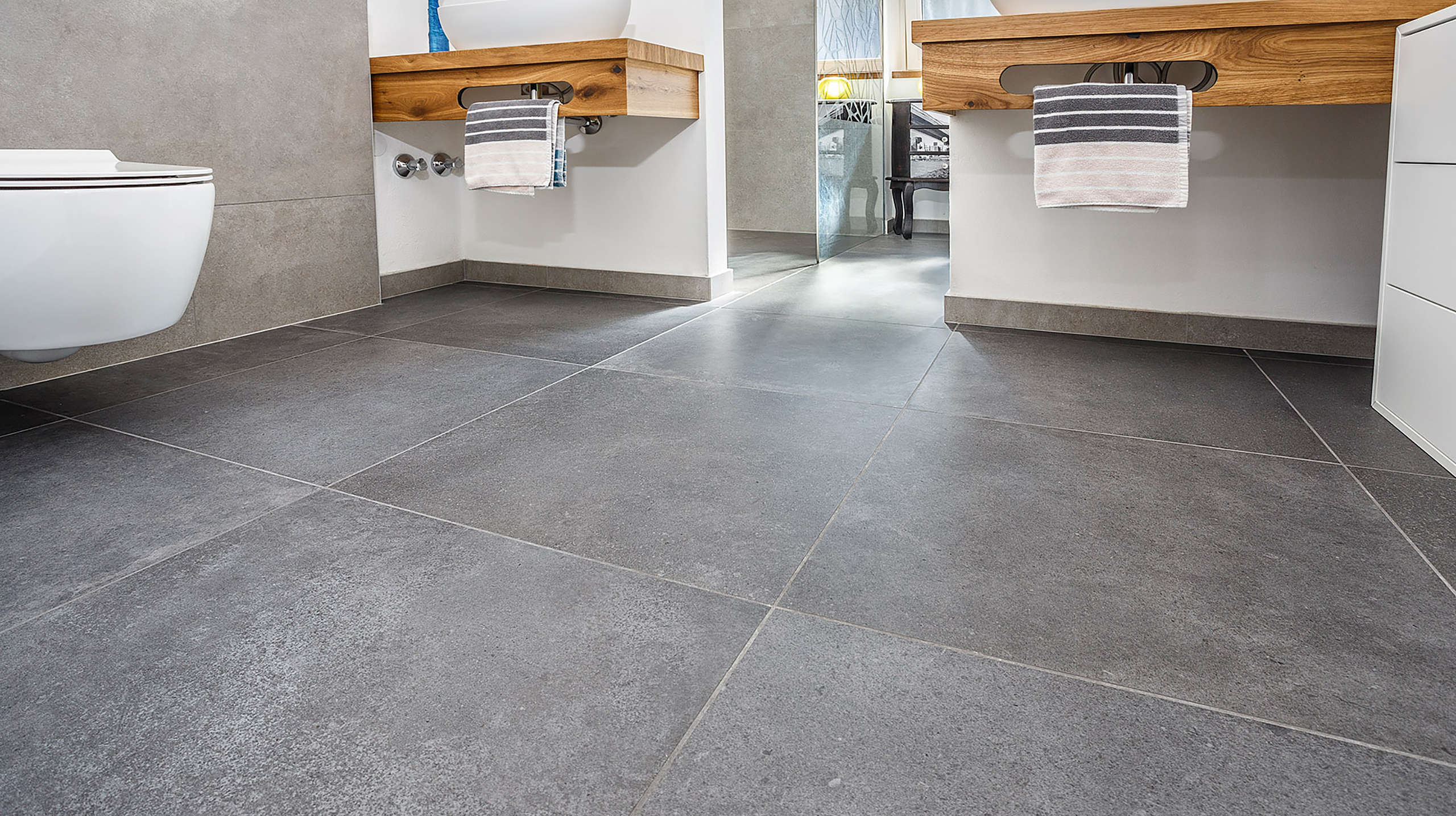 porcelain stoneware, indoor, flooring, floors, bathroom